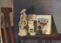 Artist Kenneth Rowntree: Still-life with Grace Darling, 1949