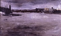 Artist David Tindle: Thames View from London Bridge